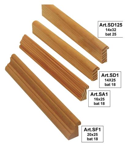 Ferma vetri legno massello