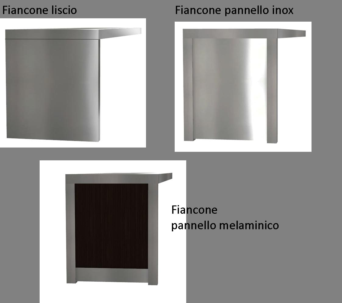 Fianconi per cucine in acciaio INOX