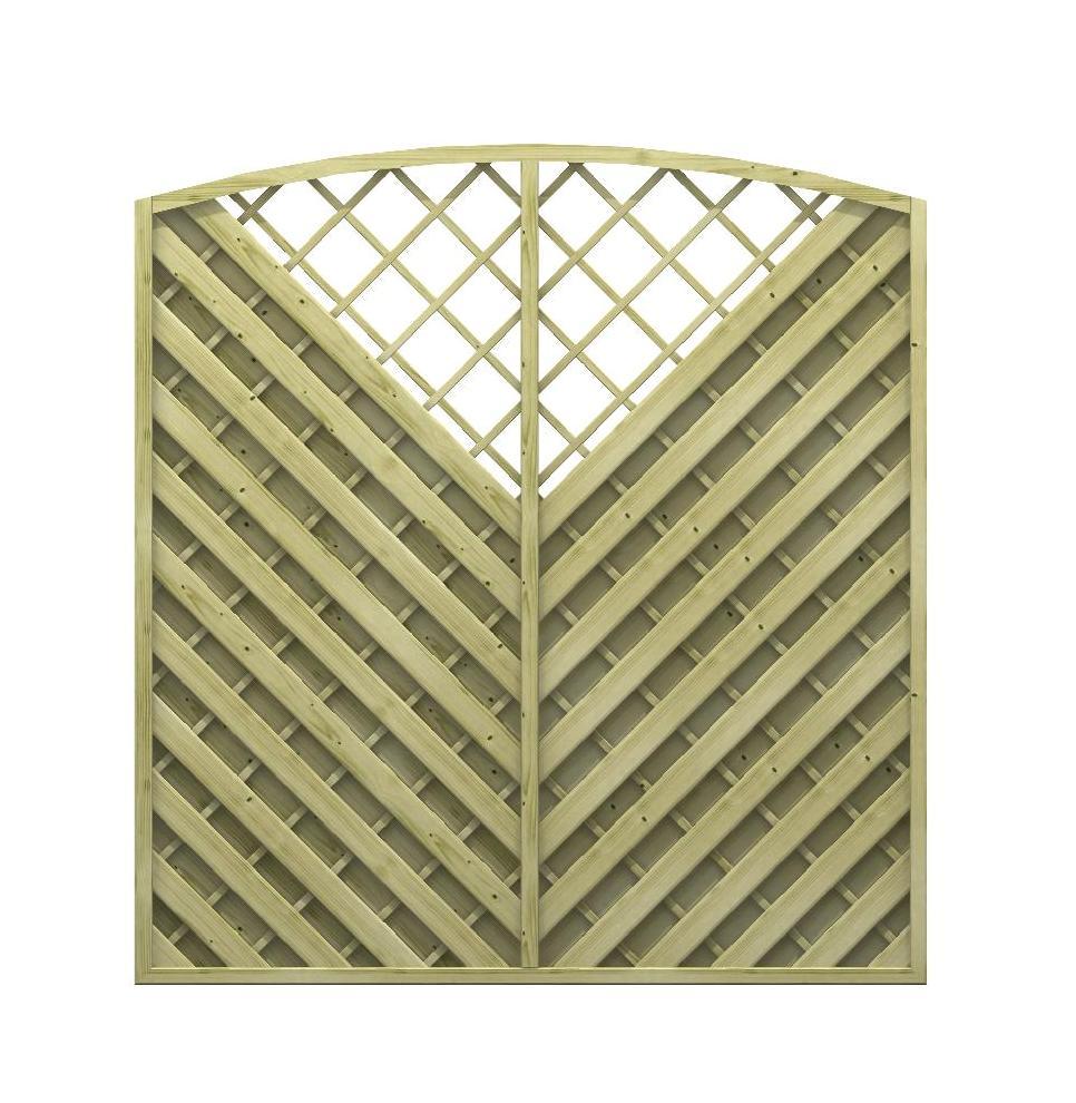 Pannello frangivento diagonale arco e griglia for Grigliato ad arco