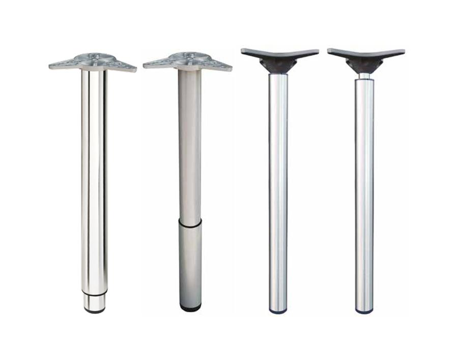 Gambe regolabili in metallo per tavoli for Gambe per tavoli