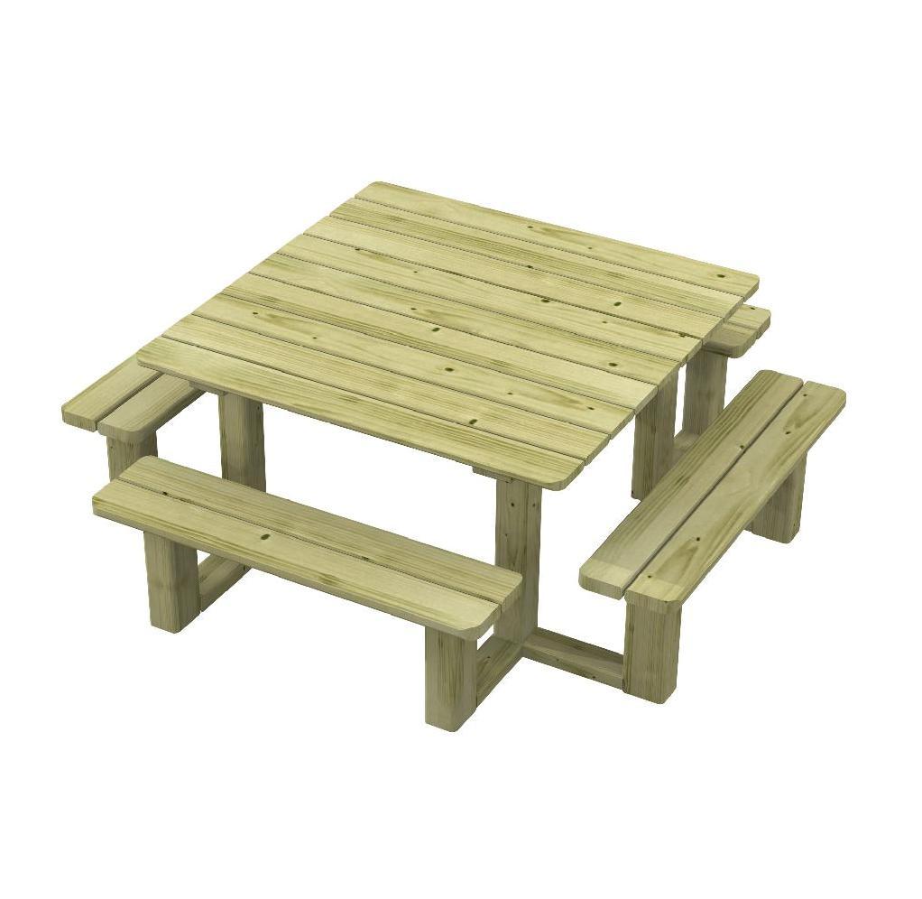 Tavolo picnic per bambini in legno giardini panche integrate di qualit parchi ebay - Tavolo pic nic decathlon ...