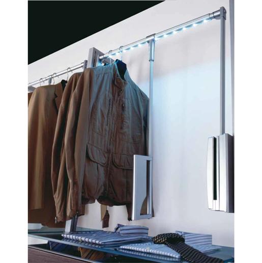 Appendiabiti illuminazione a led per sistema quadro di - Appendiabiti per cabina armadio ...