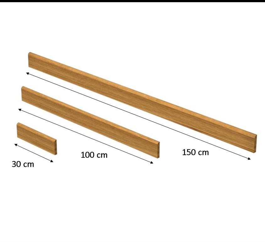 Battiscopa altezza 7 cm per rivestimento scale a misura bato7 - Rivestimento in legno per scale ...