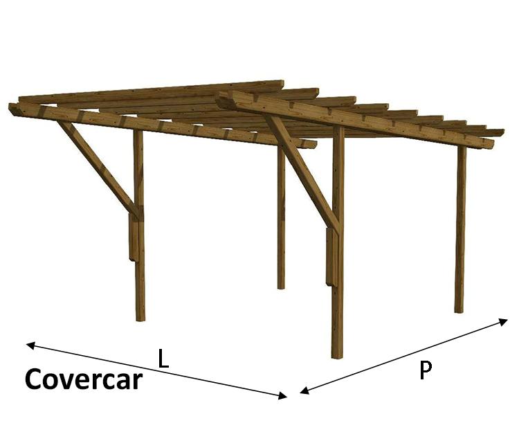 Covercar carport linear for Carport 2 posti