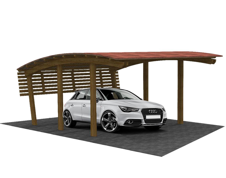 Garage in legno copertura per auto tettoia auto in legno for Garage per 2 auto personalizzate