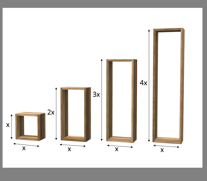 Legno Online Su Misura scaffale rectangular in lamellare