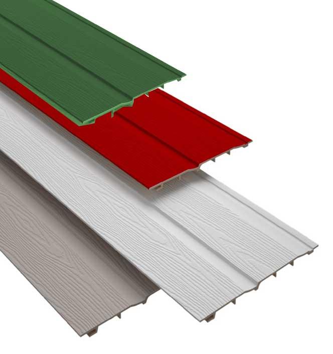 Doghe bianche PVC per esterni Isomur