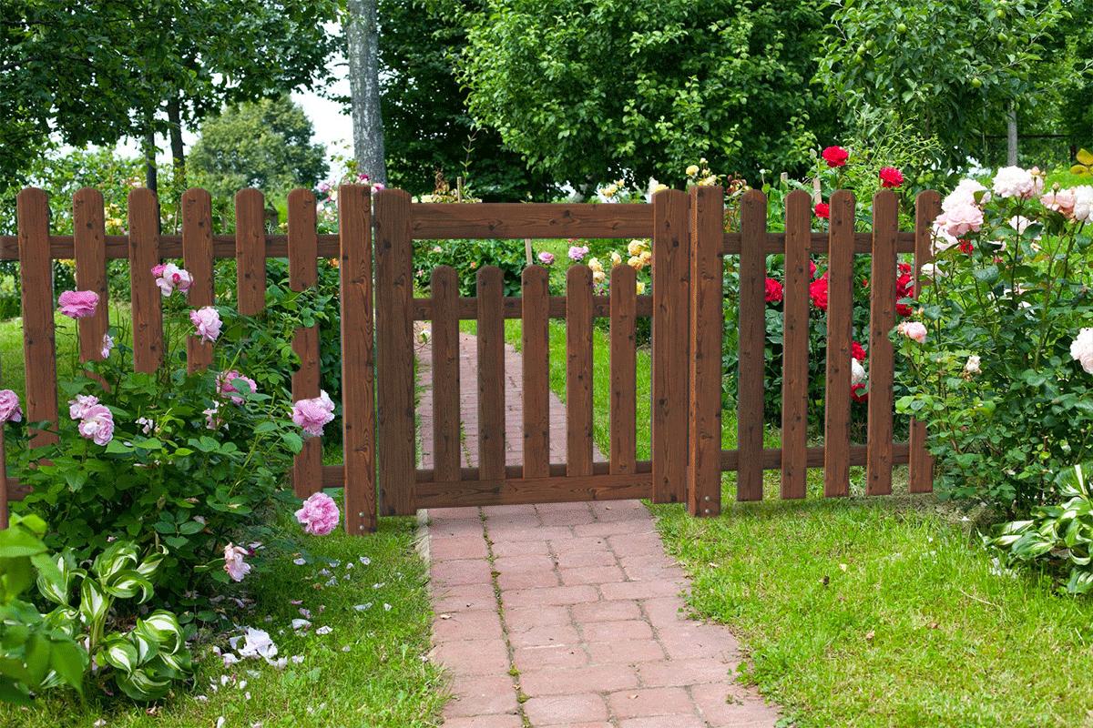Cancelletto per recinzione julia bimbi for Cancelli di legno per giardino