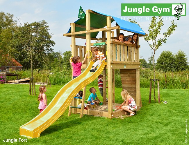 Torretta gioco FORT-Jungle-Gym- con scivolo_mybricoshop