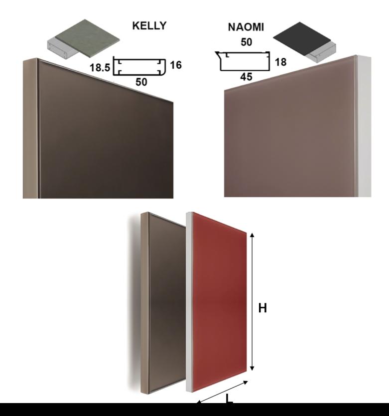 Anta Vetro Su Misura.Anta Colorata Su Misura Con Cornice In Alluminio