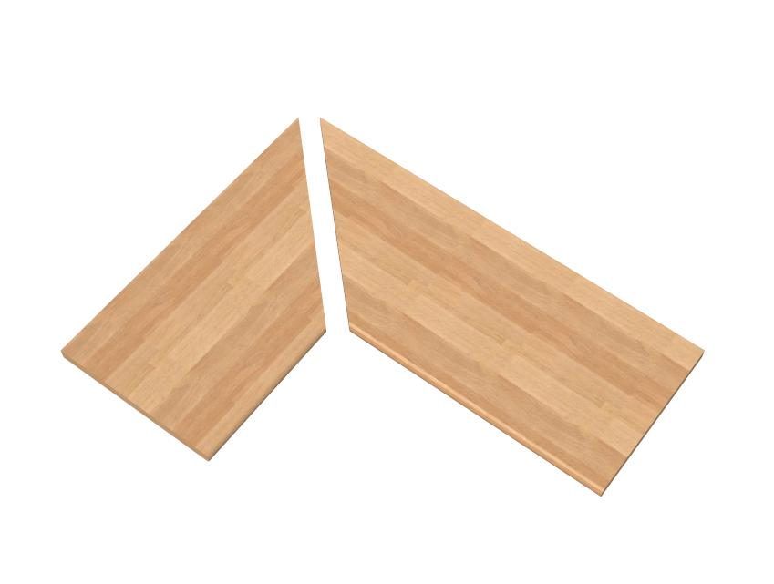 Taglio ad angolo top per cucina - Top cucina legno ...