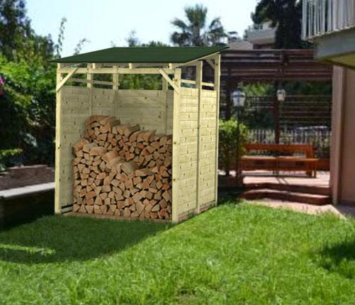 Legnaia porta legna in kit modello big for Porta legna da esterno