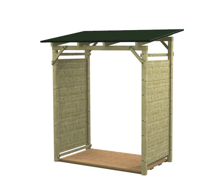 Legnaia porta legna in kit modello easy for Porta legna da esterno
