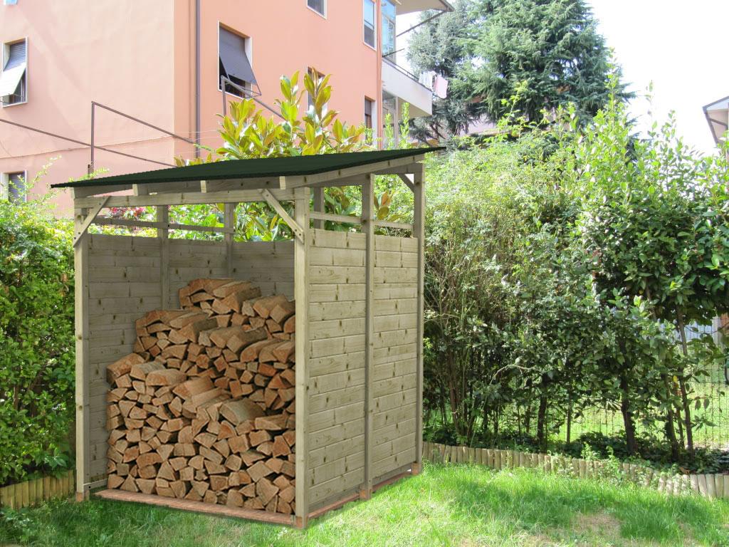 Legnaia porta legna in kit modello big eco for Porta legna da esterno