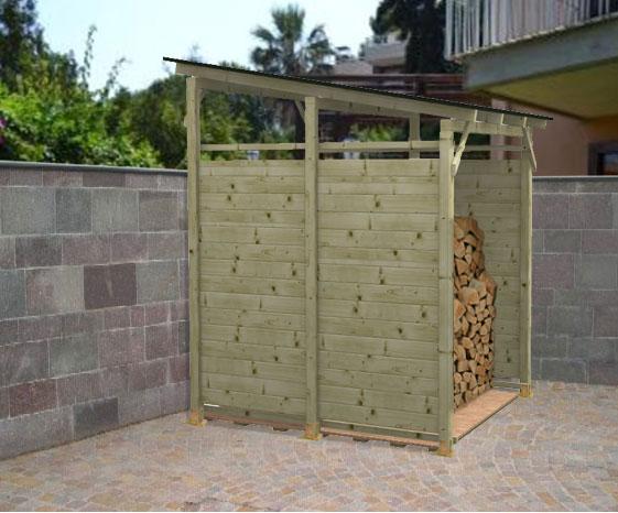 Legnaia porta legna in kit modello eavy eco for Porta legna da esterno