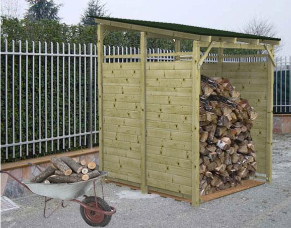 Legnaia porta legna in kit modello eavy for Porta legna da esterno