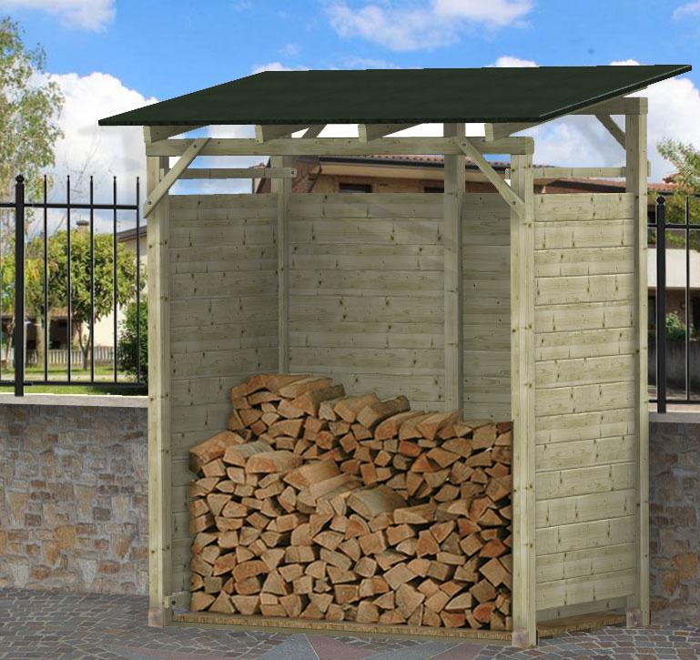 Legnaia porta legna in kit modello matteo for Porta legna da esterno