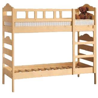 Letto a castello gioia in legno massello negozio online - Letto a castello in legno massello ...
