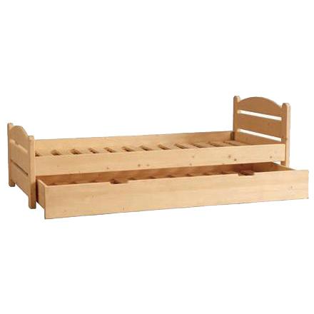 Letto singolo in legno massello