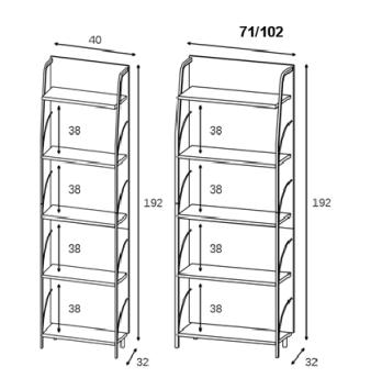 Libreria scaffali componibili trendy with libreria for Ikea billy mensola