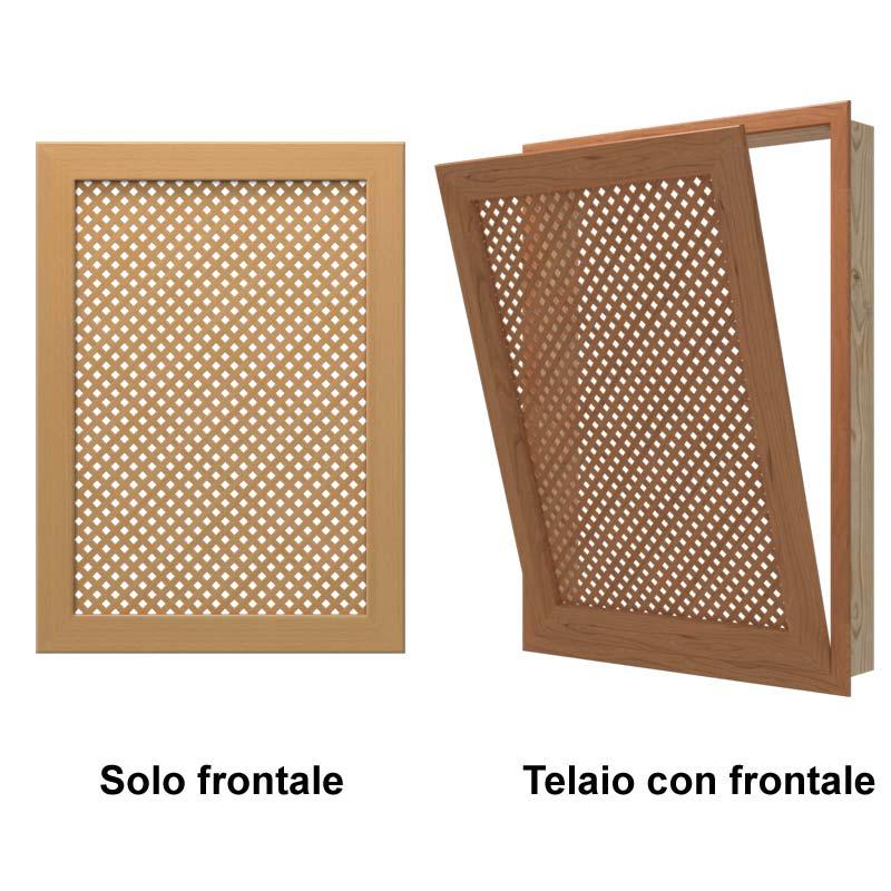 Frontale Per Calorifero Lillo Con Frontale Realizzato Con Grigliato