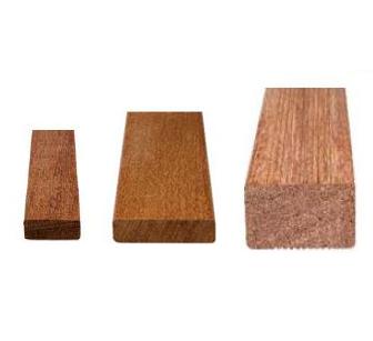 Listelli sottostruttura in legno esotico