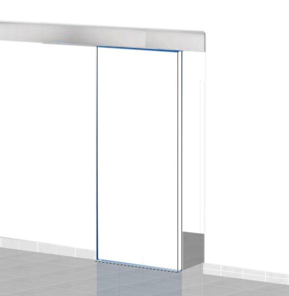 Mantovana alluminio per porta scorrevole