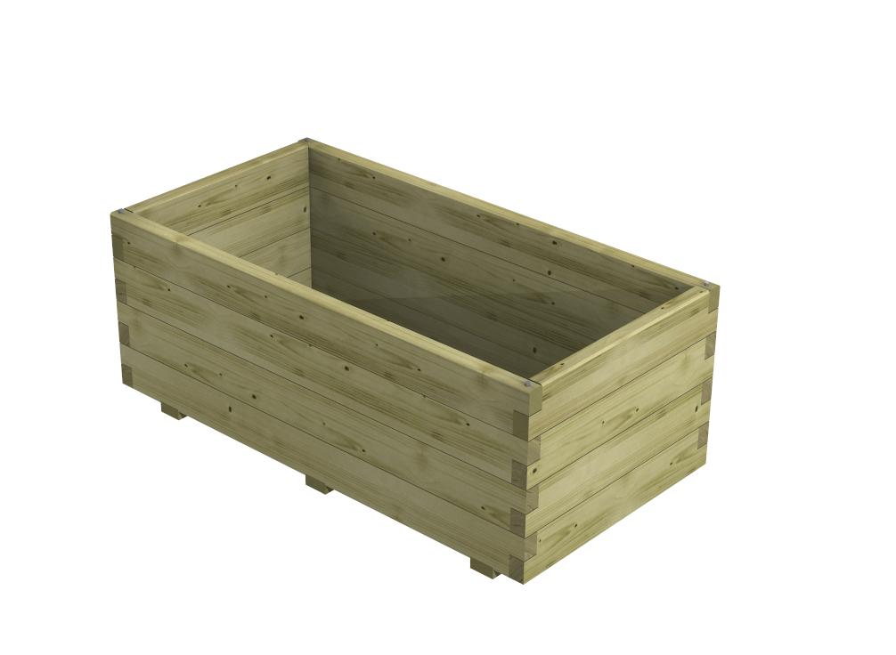 Fioriera in legno mod martina su misura 35 mm for Portafiori in legno