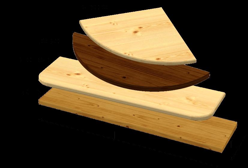 Mensola abete su misura for Mensole legno naturale