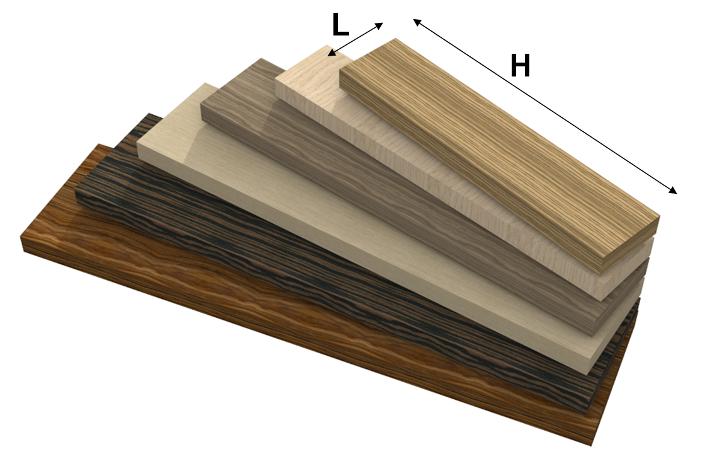 mensola in legno ad alto spessore alpilignum su misura
