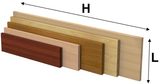 Mensola in legno massello: Faggio, Pioppo, Tiglio, Rovere e Bahia in ...
