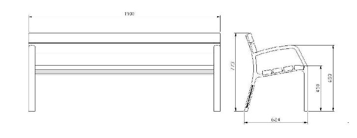 Dimensioni Panchine Da Giardino.Panchina Madrid