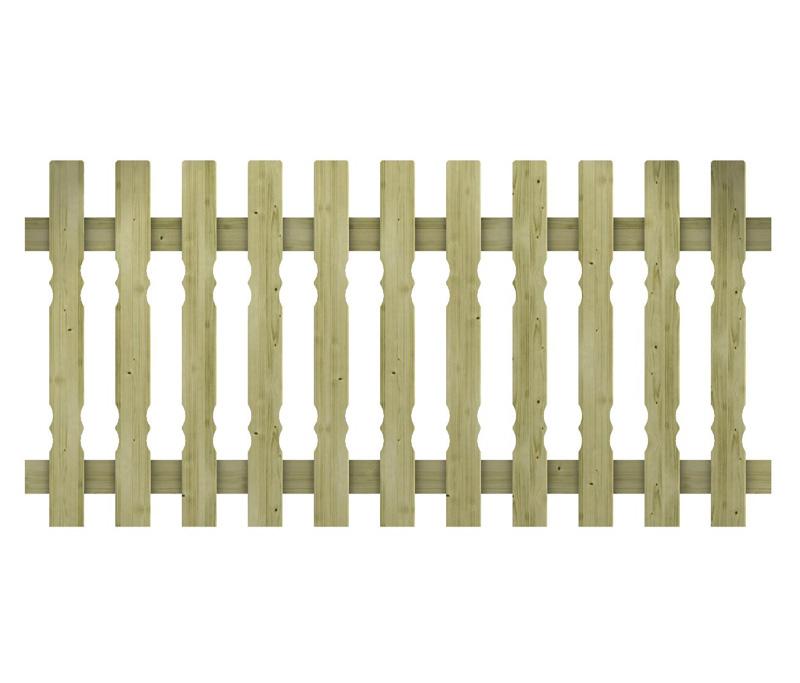 Recinzione in legno impregnato aline for Recinzione legno