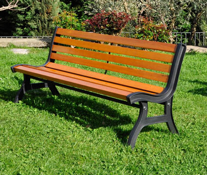 panchina in legno e ghisa queen victoria