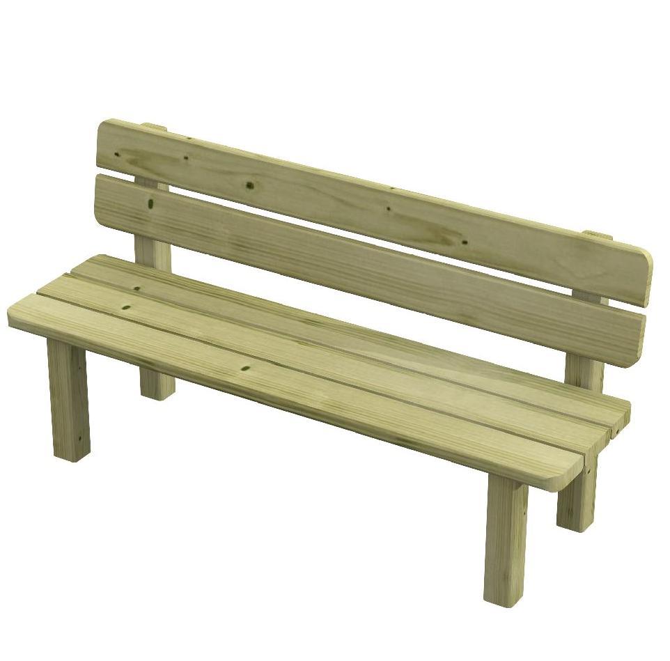 Panchina in legno di pino per bambini di qualit panca - Panchine da giardino fai da te ...