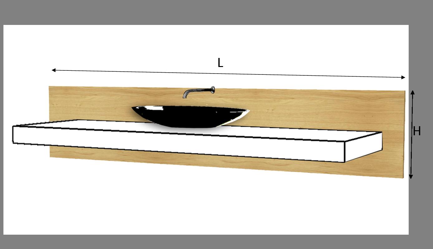 frontale per top lavabo legno massello su misura - Lavabo Per Top