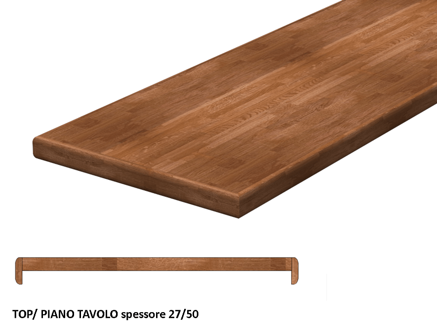 Piano cucina in legno lamellare massello - Spessore top cucina ...