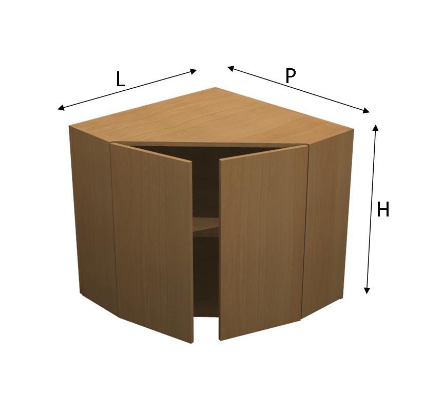 Pensile comby per angolo con anta - Mobili cucina ad angolo ...
