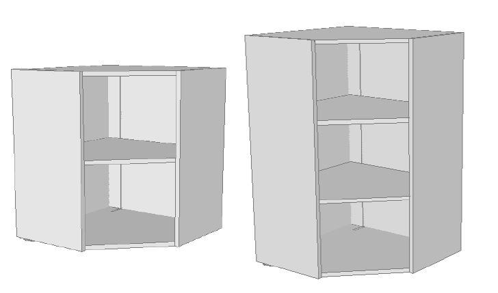 Pensili angolo per cucina - Strutture per cucine componibili ...