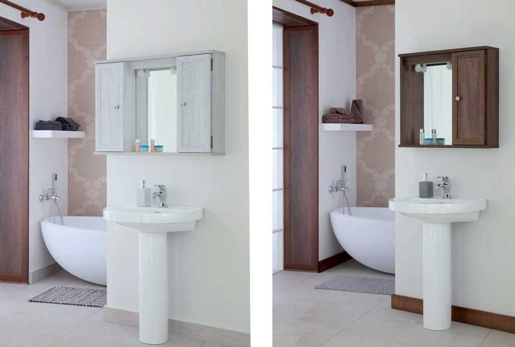 Specchio arte povera country per bagno