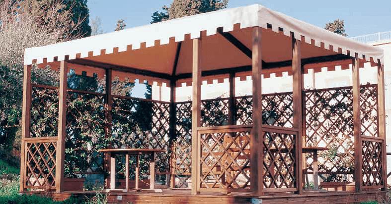 gazebo- pergola in legno lux rettangolare - Legno Kit Gazebo Rettangolare