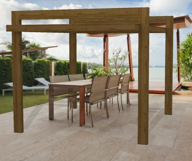 Pergola in legno - Gazebo Hi Tech in legno,stile moderno realizzata su misura...