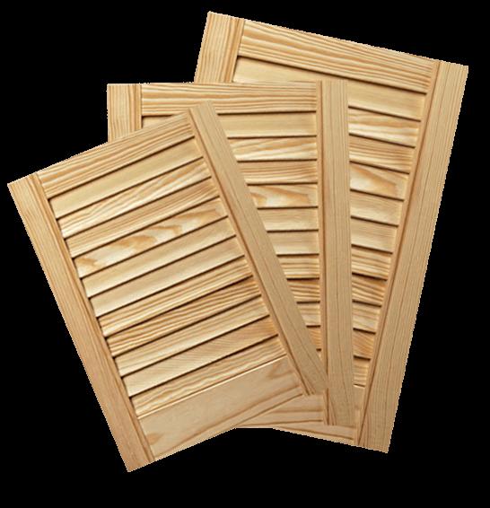 Anta persianata in legno di pino - Mobili a persiana ...