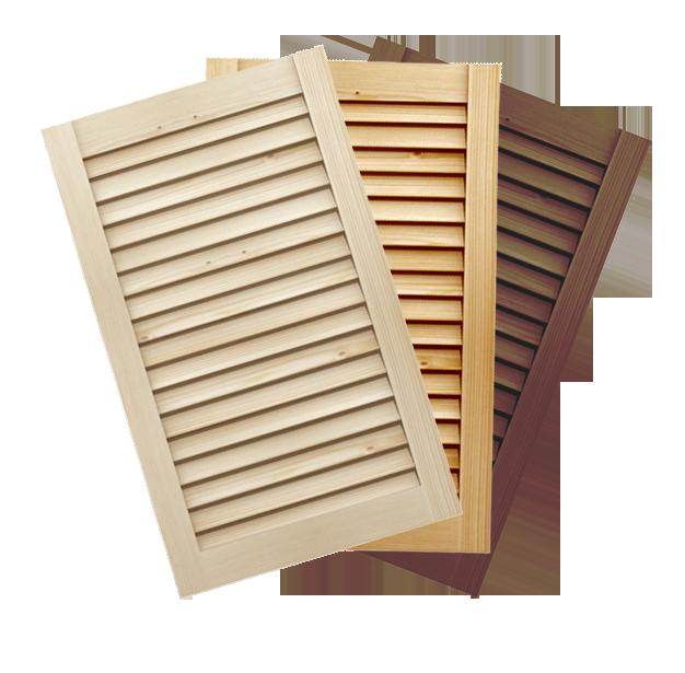 Antine a persiana in legno massello su misura