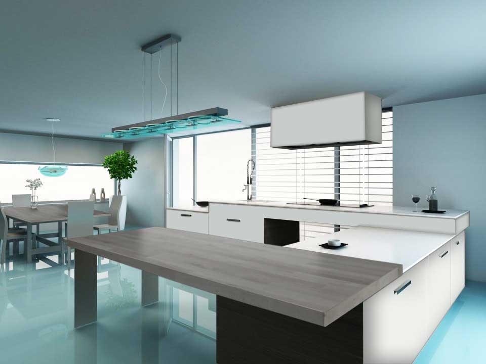 Cucine moderne legno naturale 2