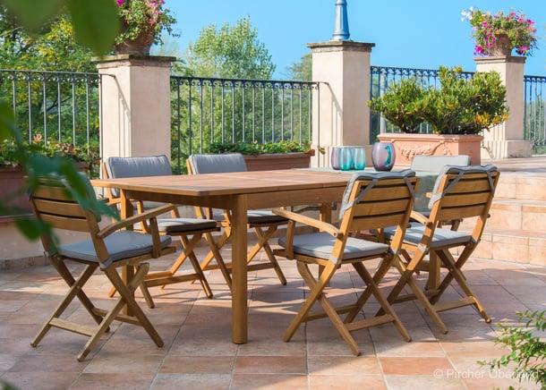 Tavolo allungabile da giardino floor negozio online for Sedie vendita online