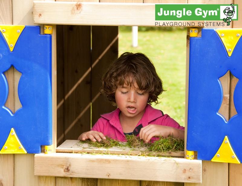 Parco gioco playhouse xl bridge jungle gym in legno con for Altalena con ponte