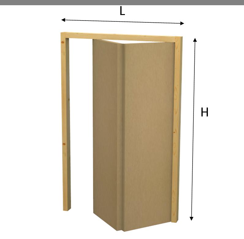 Porta su misura a libro tamburata negozio online mybricoshop.com
