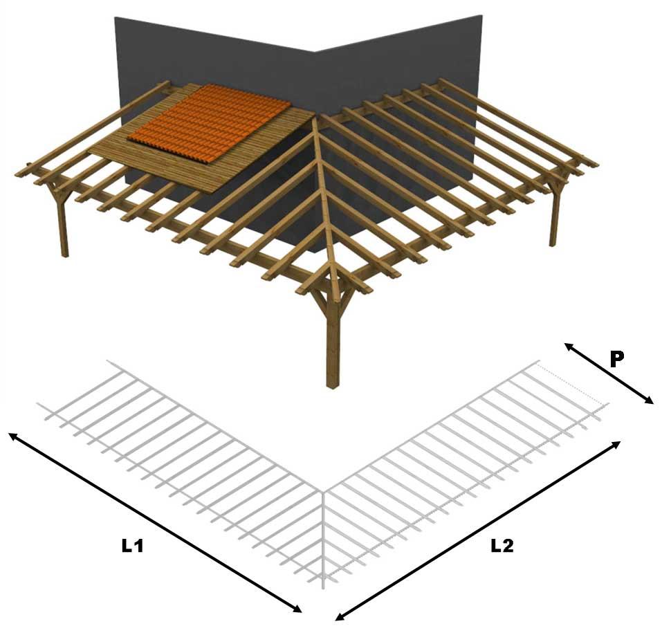 Come Arredare Un Portico Chiuso porticato in lamellare a l esterno