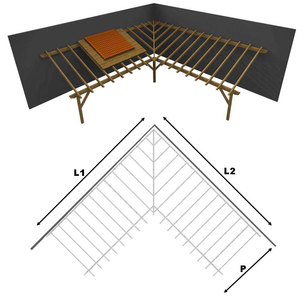 Come Arredare Un Portico Chiuso porticato in lamellare a l interno